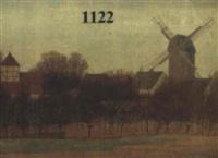 dorf mit windmühle by alfred paul pfitzner