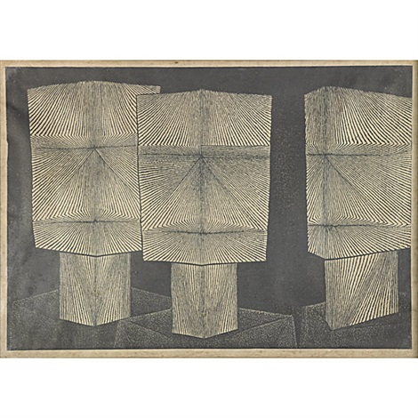 adam la terre intaglio etching 2 works by henri georges adam