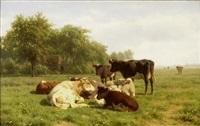 kühe auf der weide by willem kooiman