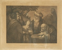 scene mitologiche (set of 4 after angelica kauffman) by angelo zaffonato