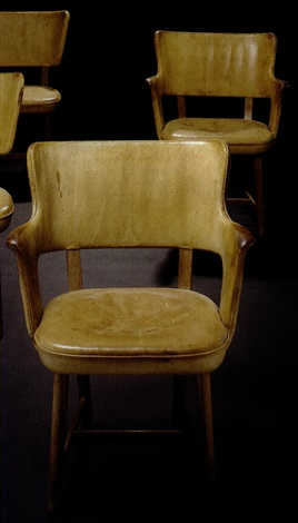 pair of armchairs by tyge hvass