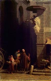 römische strassensänger by alfred van (jacques) muyden