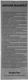 januar-manifest by gruppe spur