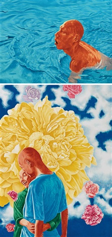 版画 (二幅) printmaking two 2 works by fang lijun
