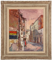 street scene, rome by oscar van young