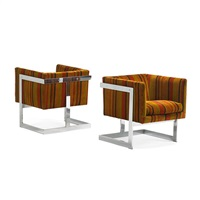 t-back lounge chairs (pair) by milo baughman