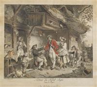 blätter: 1. départ du soldat suisse. 2. retour du soldat suisse dans le pays (2 works) by sigmund freudenberger
