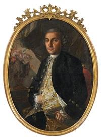 porträt der jeanne de mascagni dei duca di roezzo by carlo amalfi