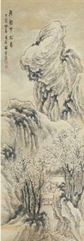 秋馆寒林图 by xiang shengmo