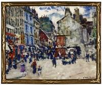 la rue mouffetard, paris by clarence montfort gihon