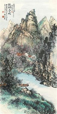 阳朔春晓 by li xiongcai