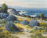 wild lilacs and poppies, carmel, ca by carl sammons