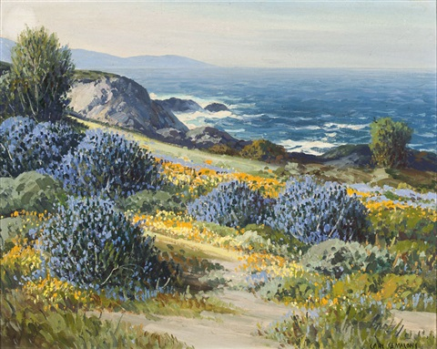wild lilacs and poppies carmel ca by carl sammons