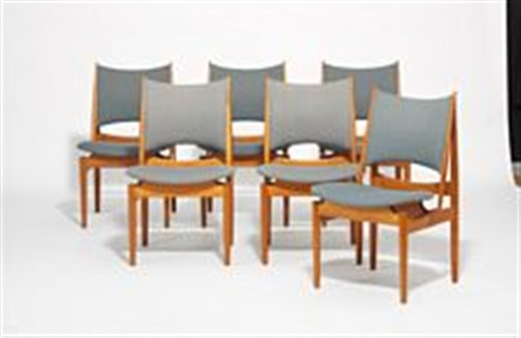 The Egyptian Chair (set Of 6 Chairs) By Finn Juhl