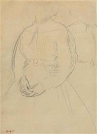 etude pour un portrait de femme by edgar degas