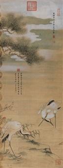 松鹤双庆 by empress dowager cixi