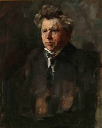 portrait of the danish poet jeppe aakjær by herman albert gude vedel