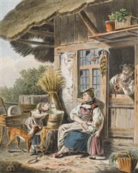 idyllische bauernszene by sigmund freudenberger