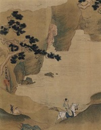 江间行旅图 by qiu ying