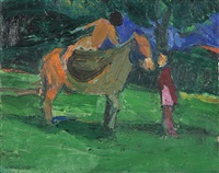horse and rider by william theophilus brown