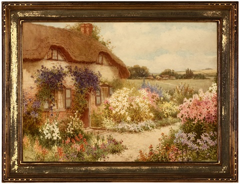 the cottage with the blue creeper an old english house near aylesbury bucks by william affleck