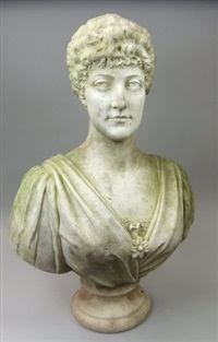 bust (princess alexandra?) by orazio andreoni