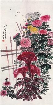 秋香 立轴 纸本 by qi liangchi