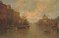the grand canal, venice by e. heaton