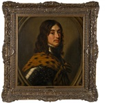 a portrait of a man in armour, thought to be prince edward, count palatine by willem van honthorst