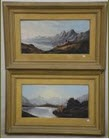 loch carron (2 works) by charles leslie