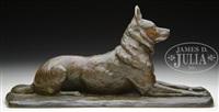chien berger allemand couche by pierre nicholas tourgueneff