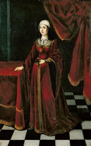 porträt einer dame by austrian school 17
