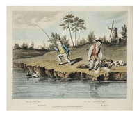 delights of fishing (set of 6) by francis calcraft turner