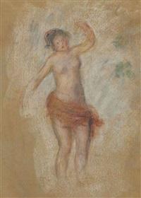 faunesse dansant ou etude pour oedipe-roi by pierre-auguste renoir