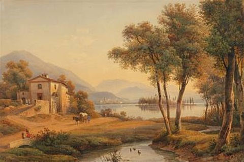 view from the como lake by salomon corrodi