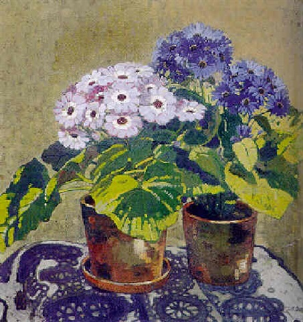 Bluhende Topfpflanzen By Willy Wilhelm Friedrich Burger On Artnet