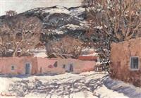 snow in pojoaque valley, new mexico by carl von hassler