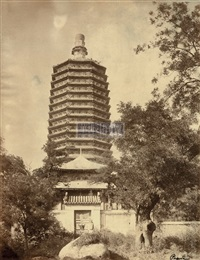 pagoda in tianning temple by yamamoto
