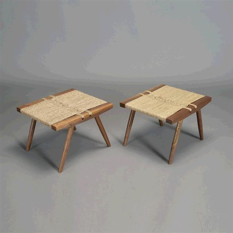 foot stools pair by george nakashima