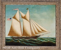 the two-masted schooner alexander blue, captain george b. murray by edward everard arnold