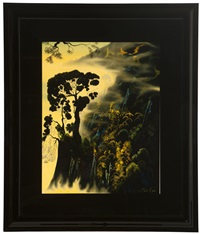 sunset silhouette by eyvind earle
