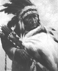 a native american chieftan by troy denton