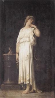 the vestal virgin by louis hector leroux