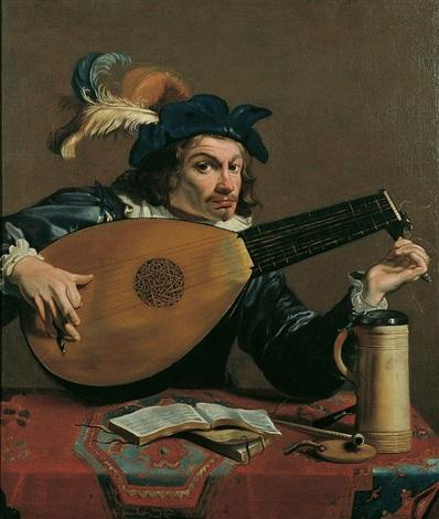 der lautenspieler by theodoor rombouts