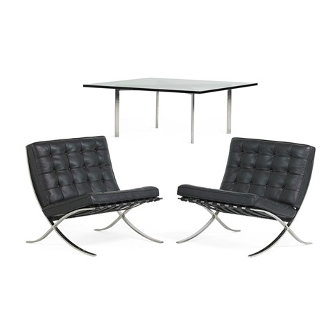 mies van der rohe sessel barcelona barcelona mies van der rohe stool knoll international. Black Bedroom Furniture Sets. Home Design Ideas