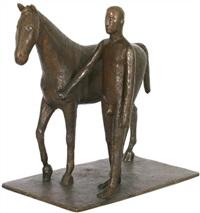 mann mit pferd by hans mettel