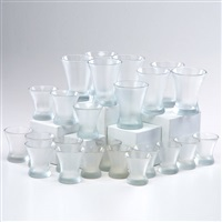 imperial flair glasses: eight small, eight medium, eight large (set of 24) by russel wright