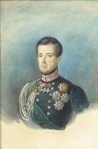 portrait of carlo alberto, king of sardinia by pietro ayers