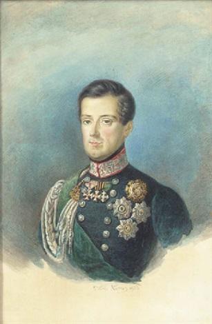 portrait of carlo alberto king of sardinia by pietro ayers