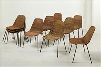 dieci sedie impilabili basket (10 works) by franco campo and carlo graffi